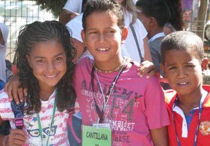 laboratorios mdb con los niños saharauis
